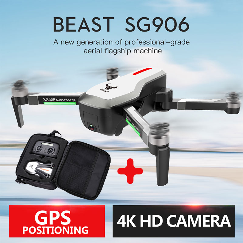SG906 drone GPS 5G WIFI FPV 4 K HD caméra drone sans brosse Selfie pliable RC Drone drones rc hélicoptère sac gratuit cadeau
