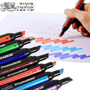 Image 3 - ウィンザー & ニュートンツインチップアルコールベース Promarkers 両面ファイン/斜め先端アートマーカーペンアーティスト描画用品