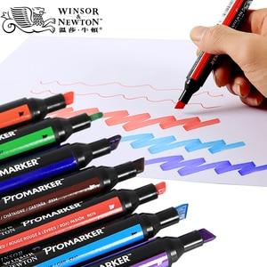 Image 3 - WINSOR & NEWTON двойной наконечник на спиртовой основе, двухсторонний тонкий/косой наконечник, маркер для художников, принадлежности для рисования