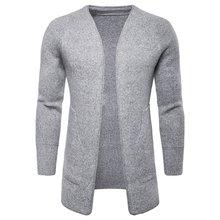 2018 hombres larga suéteres otoño invierno cálido chaquetas de lana suéteres  Jersey hombre fb3220d8145c
