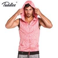 Taddlee Brand Mens Sleeveless Hoodies Fashion Zipper Casual Hooded Sweatshirt Men Hip Hop Hoodie Men S