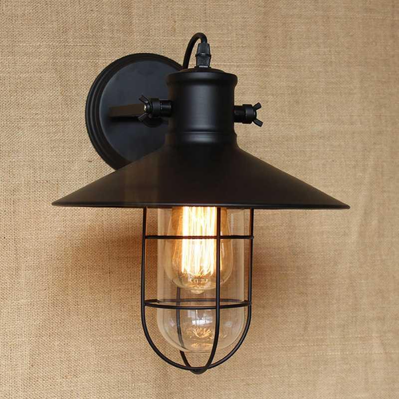 LukLoy настенный светильник, Винтаж декоративные ретро Клетка бра, промышленные настенные Освещение для коридор оформление балкона e27