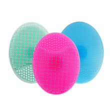 1 pcs Soft Silicone Facial Cleansing Brush Face Washing Exfoliating Blackhead Brush Remover Skin SPA Scrub Pad Tool Baby shampo(China)