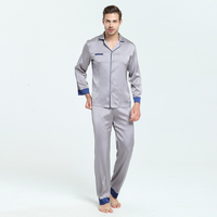 Men And Women Unisex Autum And Spring Polyester Faux Silk Satin Sleepwear Home Wear Loungewear Pajama