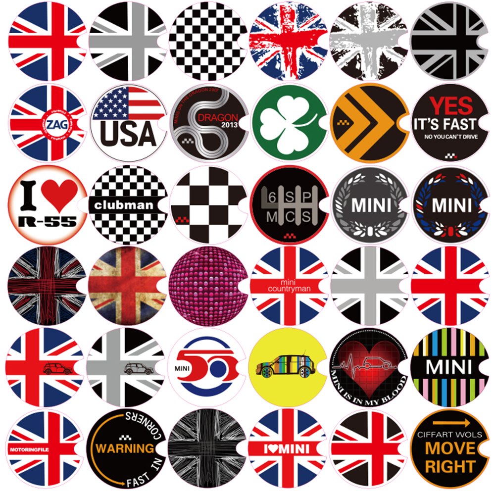 Aliuto Car Decoration Fuel Tank Cap Sticker Decals For Mini Cooper Countryman R50 R52 R53 R55 R56 R57 R58 R59 R60 R61 R62 aliauto car styling car side door sticker and decals accessories for mini cooper countryman r50 r52 r53 r58 r56