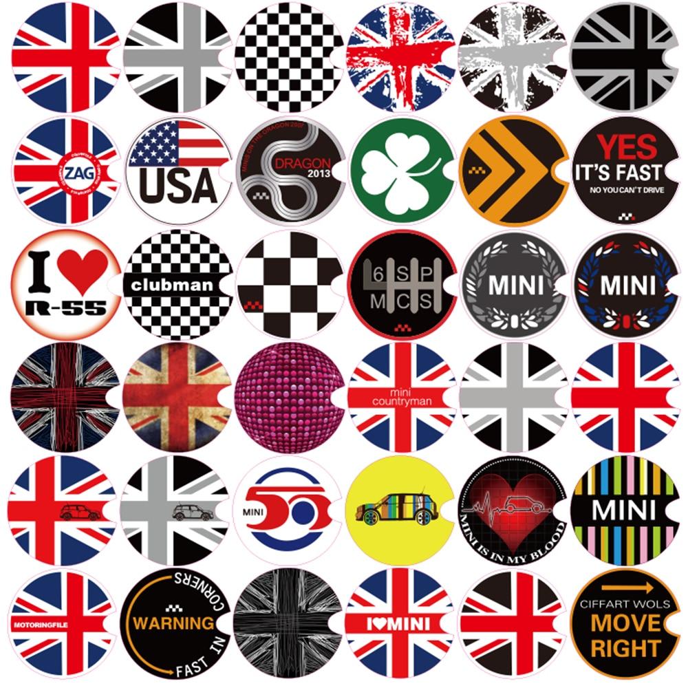 Aliuto Car Decoration Fuel Tank Cap Sticker Decals For Mini Cooper Countryman R50 R52 R53 R55 R56 R57 R58 R59 R60 R61 R62