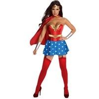 Hitmebox 2017 Mulheres Sexy Mulher Maravilha Super Hero Fancy Dress Costume Wonderwoman traje