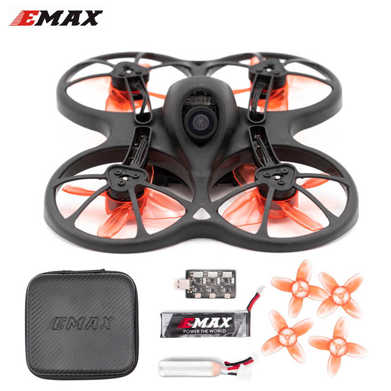 Original Emax TinyhawkS 75mm F4 OSD 1-2S Micro Indoor FPV Racing Drone BNF w/ 600TVL CMOS Camera F4 OSD 5a 4IN1 ESC(China)