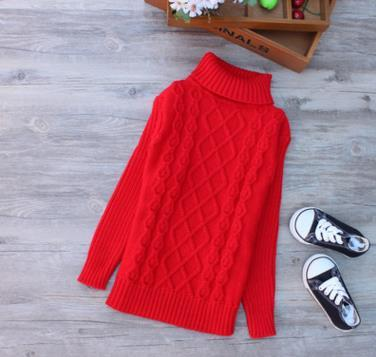 6-10Y Big Size Children's Sweaters Casual Sweater Boy Autumn Knitting Long Sleeve Turtleneck Knitwear Sweaters Pullover AS-1615
