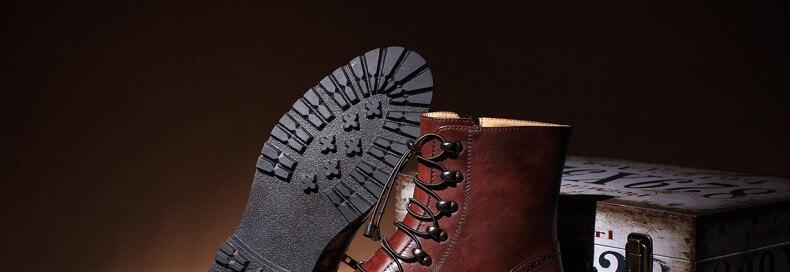 Großhandel Schwarze Männer Stiefel EGE Marke Mode Britischen