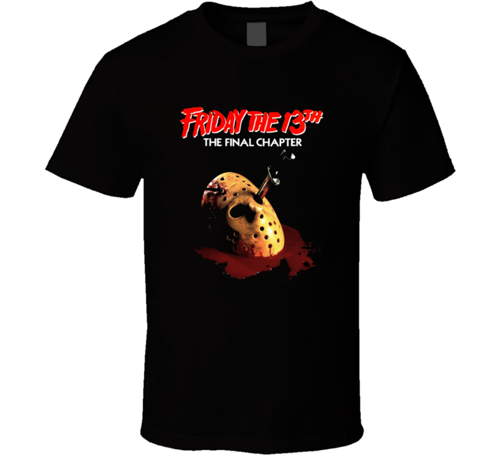 Friday The 13th Final Chapter Movie Mens Black T Shirt Tee Cotton New FromMen Short Sleeves T Shirt top tee