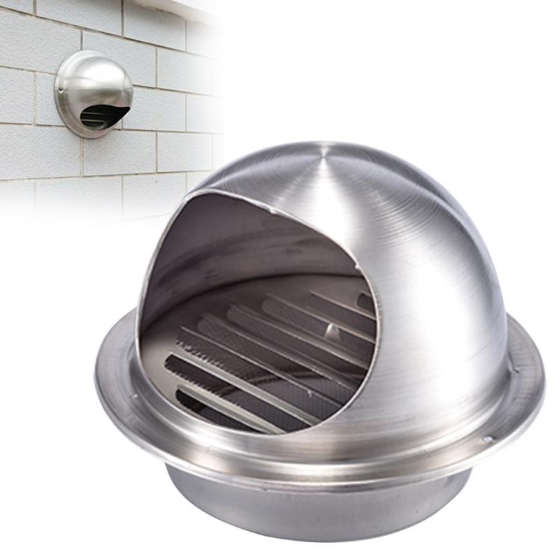 Outdoor Vent Covers >> Us 15 13 Outdoor Wall Mounted Sus304 Wall Air Vent Grille Cover Ducting Ventilation Exhaust Gas Outlet Round Air Vent Covers 60 150mm In Pipe