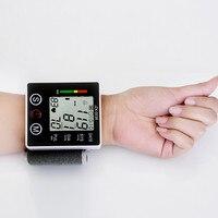 건강 손목 혈압 디지털 lcd 화면 하트 비트 펄스 모니터 미터 커프 혈압 측정 혈압