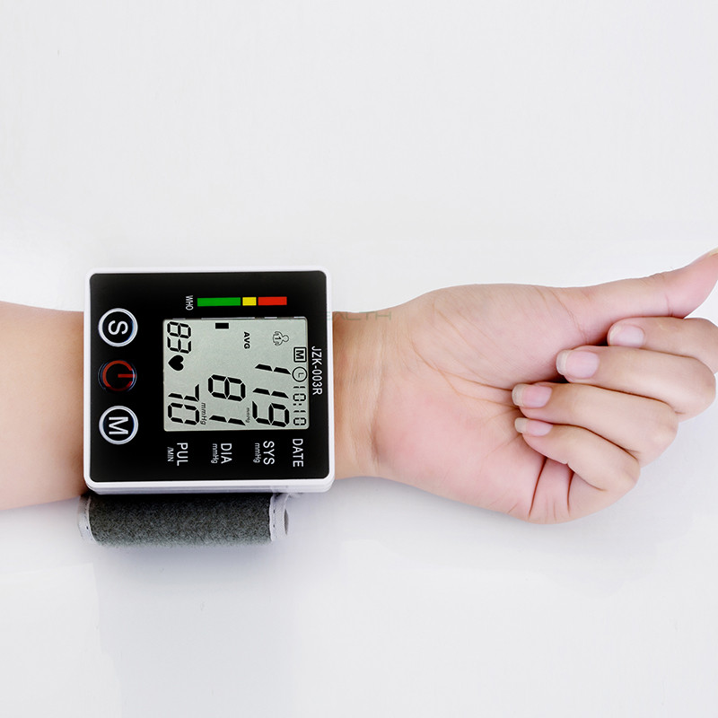 Health Care Wrist Blood Pressure Digital LCD Screen Heart Beat Pulse Monitor Meter Cuff Blood Pressure Measure Sphygmomanometer glucose meter with high quality accessories urine disease glucose meter test article 50 pc free blood 50 pcs of health care