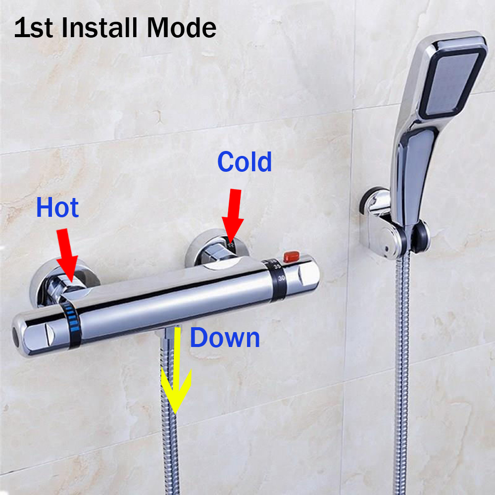 Thermostatic Mixer Shower Faucets Stainless Steel Thermostatic Mixing Valve Bathroom Cold and Hot Water Mixer Shower Set 3 tap connect 3 4 5 gear screw thread thermostatic faucet valve shower room mixing valve cold and hot water switch separator