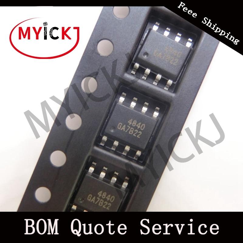 10pcs AO4840 IC CHIP MOSFET 2N-CH 40V 6A 8-SOIC   4840