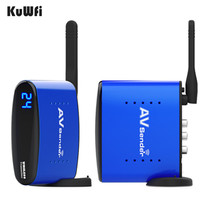 KuWfi 5.8GHz Wireless AV Audio Video Transmitter Receiver 200m AV Audio Sender Receiver with IR Input for HD TV BOX