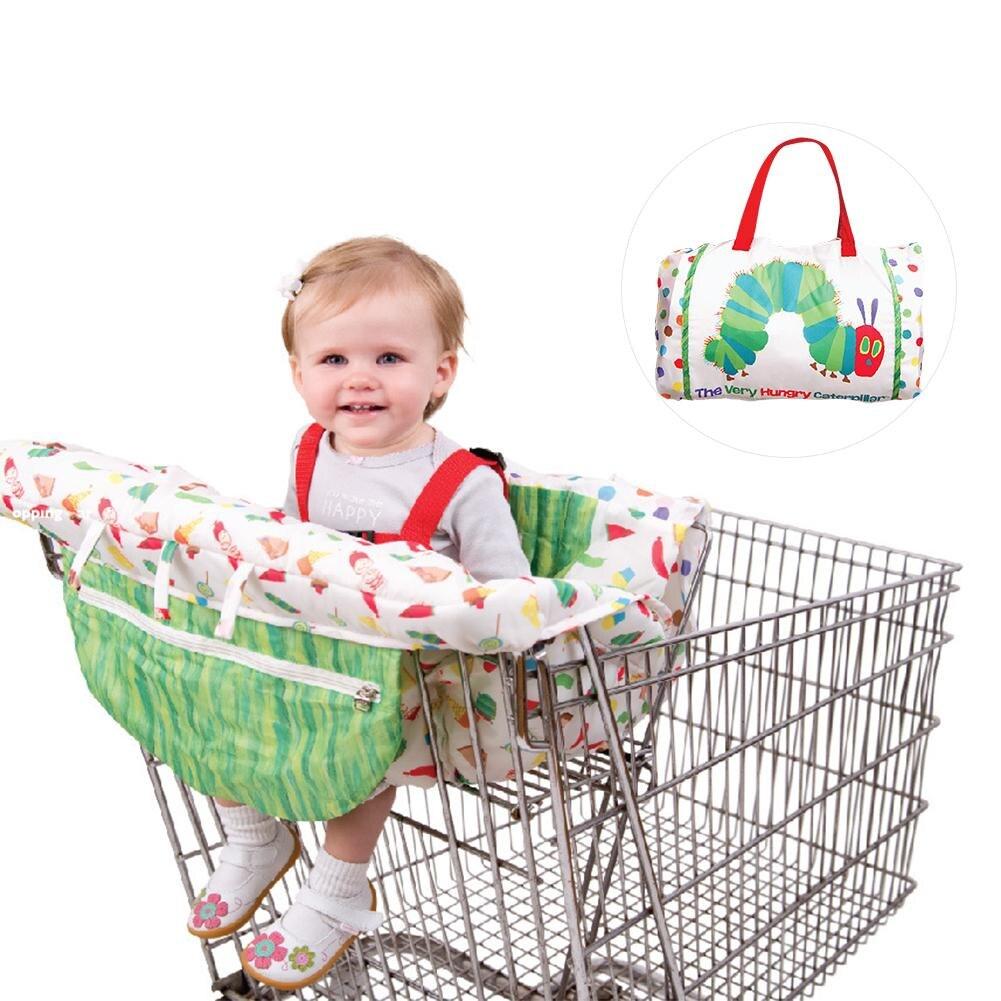 Kids Children'shopping Cart Trolley Cushion Cartoon Caterpillar Game Pad Dining Chair Cushion Case Safe Portable Pad  Pakistan