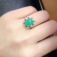 2017 реальные Qi Xuan_Fashion Jewelry_Colombia зеленый камень модные Rings_S925 чистого серебра женские зеленые туфли на Rings_Factory прямые продажи