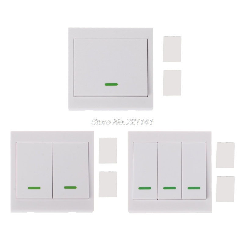 433MHz RF Wireless Remote Control Switch 86 Wall Panel Transmitter With 1 2 3 Button For Ceiling Wall Light Electronics Stocks