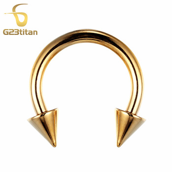 Gold Color Nipples Piercing Rings Shape Style 16 Gauge G23 titanium Nipples Ring Circular Barbell SGS Certification kz zsn pro quad core moving double circle headphones