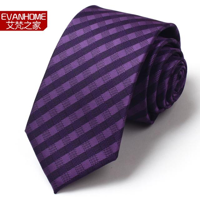 Diseñadores de Moda de Marca famosa Para Los Hombres de Moda Negocio de los Hombres Formales Corbatas Gravatas Corbata Púrpura Elegante Clásico Promoción