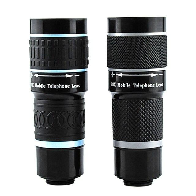 DOITOP universel 18x25 monoculaire Zoom HD optique lentille de téléphone portable observation enquête 18X téléobjectif avec trépied pour Smartphone