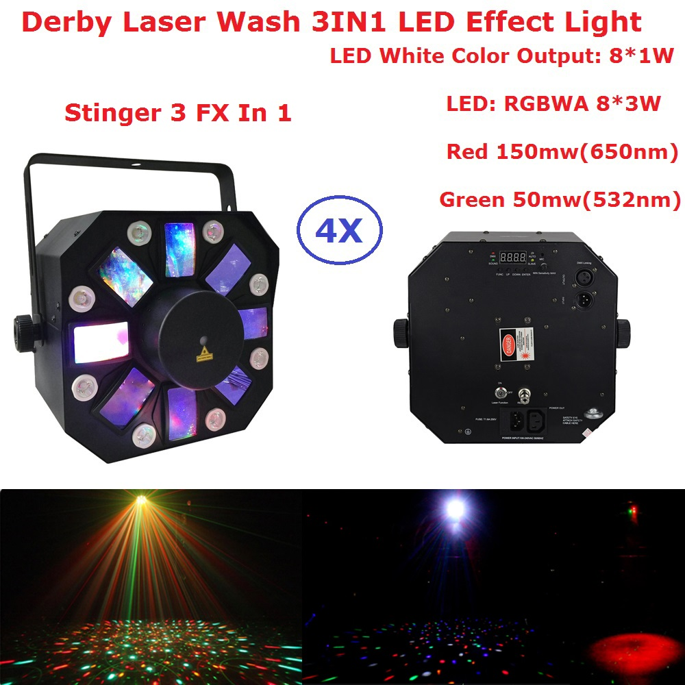Hot 8X1W White Color + 8X3W RGBWA 5 Colors LED Stage Effect Light   USA Luminums Dj Disco Laser Show Events Lighting Equipments|Stage Lighting Effect| |  - title=