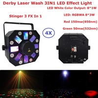 Hot 8X1W White Color + 8X3W RGBWA 5 Colors LED Stage Effect Light USA Luminums Dj Disco Laser Show Events Lighting Equipments