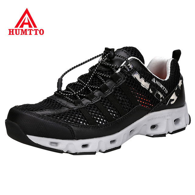 HUMTTO Brand Mountain Hiking Shoes Men Summer Mesh Breathable Trekking Outdoor Aqua Shoes Climbing & Fishing Light Man Sneakers