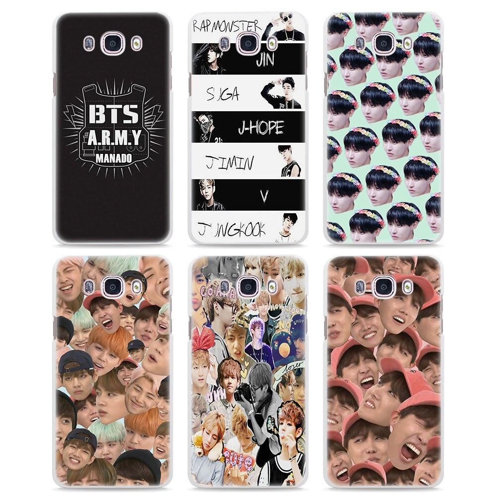 Bangtan Boys BTS Korean Hip Hop design hard White Case cover for Samsung Galaxy J5 2017 J730 2016 J3 J2 J1 C7 C9Pro E5 E7
