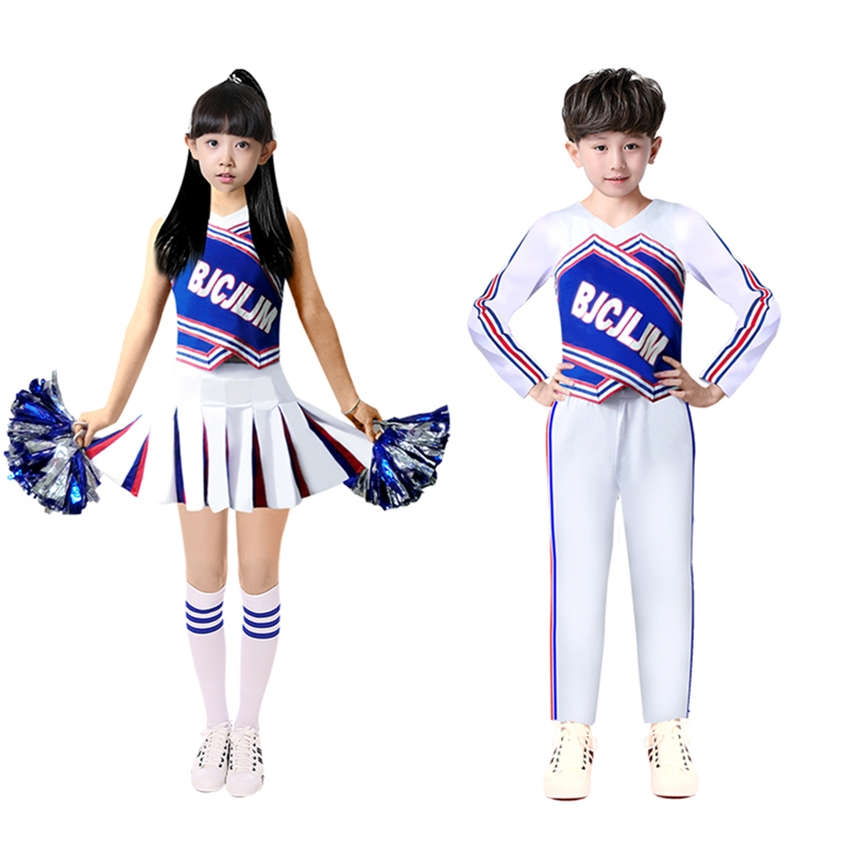 Children Cheerleaders Costumes Cheer Team Uniforms Sports Games Matching Outfits Cheering Squad Girls School Uniform Clothing