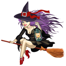 CS-791#15*15cm A witch funny car sticker printed PVC decal for auto car stickers styling car decoration rockstar energy z019 b auto car decal sticker pvc