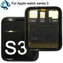 ل أبل ووتش سلسلة 3 GPS شاشة الكريستال السائل محول الأرقام بشاشة تعمل بلمس Series3 S3 38 مللي متر/42 مللي متر A1889 A1860 A1861 Lcd Pantalla استبدال