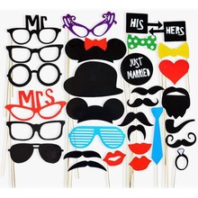 Hat Glasses Photo-Booth-Props Party-Supplies Mustache Diy-Decoration Funny 31pcs A-Stick