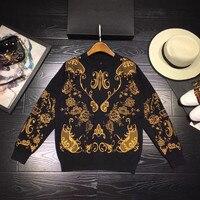 Новинка 2018 Высокое качество модные свитера для подиума летние Для женщин s Роскошные брендовые Женская одежда A08385