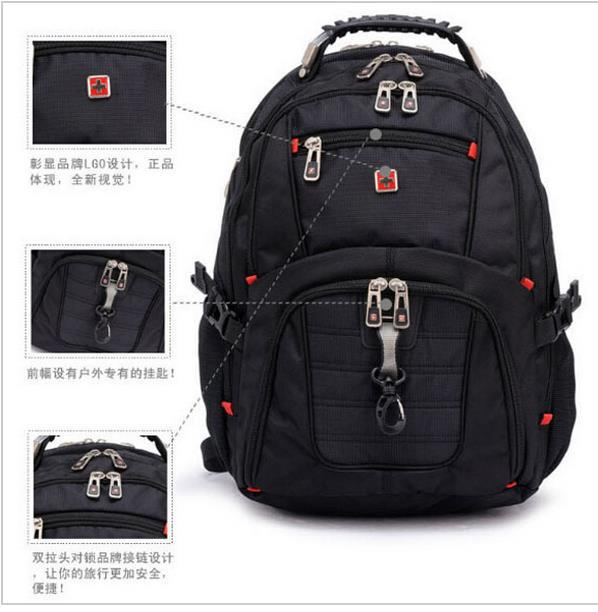 Swiss Army Knife Backpack Military 156 Laptop Bag Men Travel School Bags For Boys Rjm337 In Backpacks From Luggage On Aliexpress