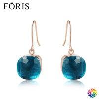 FORIS 18 Farben Neue Design Luxus Schmuck Rose Gold Kristall Ohrringe Für Frauen Weihnachtsgeschenk Besten Preis PE002