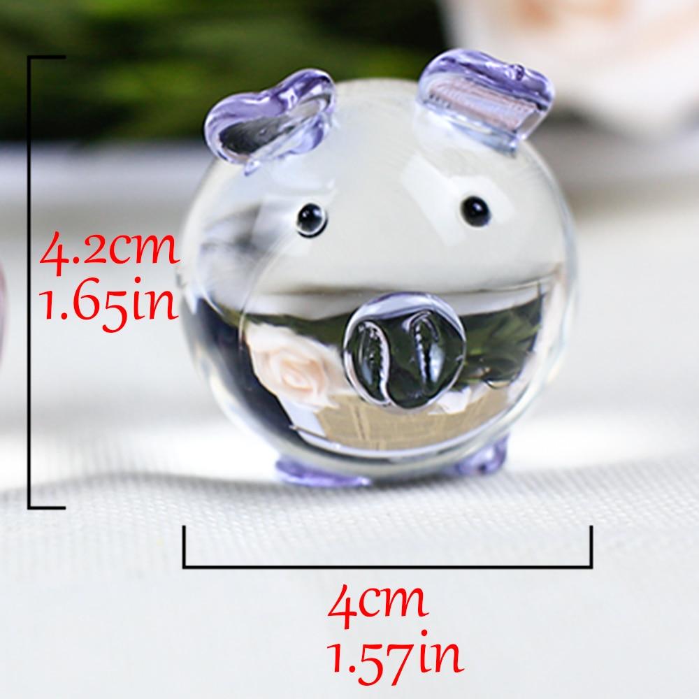 K9 Kristall Schwein Figuren Miniaturen Glas Tier Miniatur Haus - Wohnkultur - Foto 6