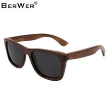 Солнцезащитные очки BerWer bamboo 2020, модные поляризационные солнцезащитные очки, популярный новый дизайн, деревянные солнцезащитные очки в оправе ручной работы