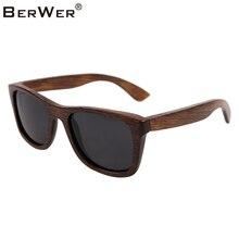 BerWer di bambù occhiali da sole 2020 di modo occhiali da sole polarizzati occhiali da sole popolari di nuovo disegno occhiali da sole in legno Cornice Fatta A Mano