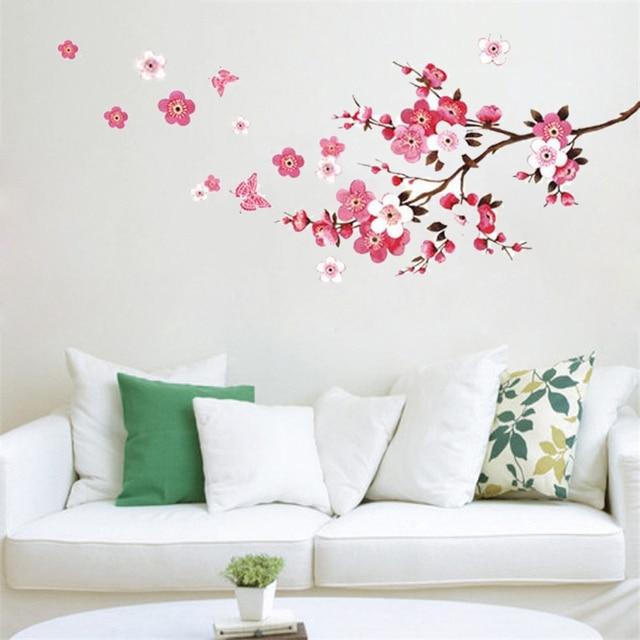 Aliexpress.com : Buy Blossom Sakura Flower Butterfly Wall