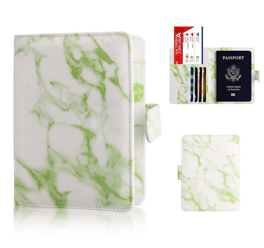 High Quality Colorful Marble Style Passport Cover Waterproof Passport Holder Travel Cover Case Passport Holder Passport Packet in Card ID Holders from Luggage Bags