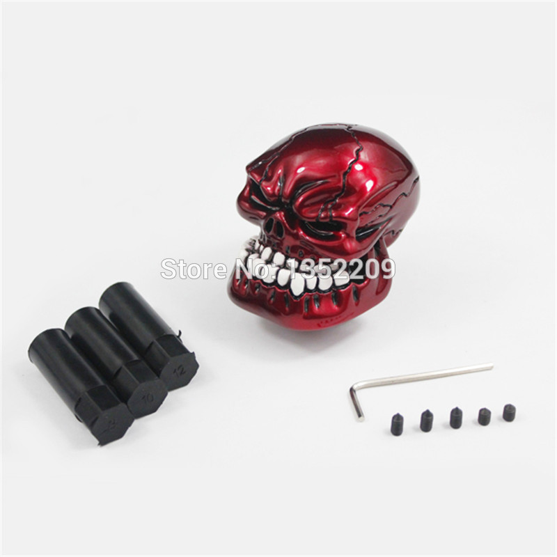 Spiderman Shift Knob,Universal Manual Gearshift Shifter Car Modeling Black//Red Interior Accessories