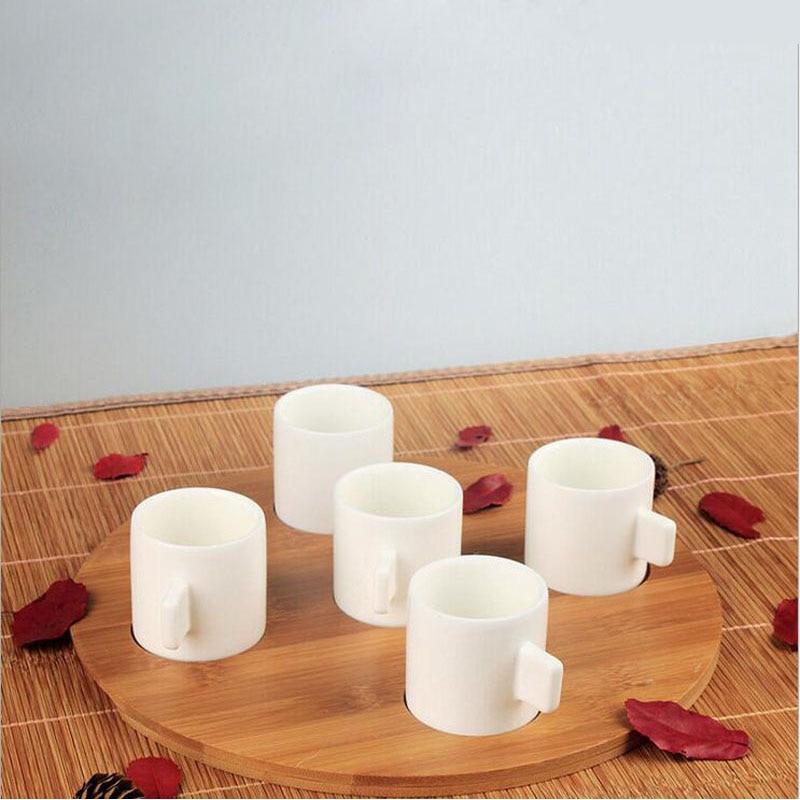 Brief Espresso Coffee Mugs Solid Color Mug Matt White Small Ceramic High Quality Home Cafe Drinkware Gift Za2251