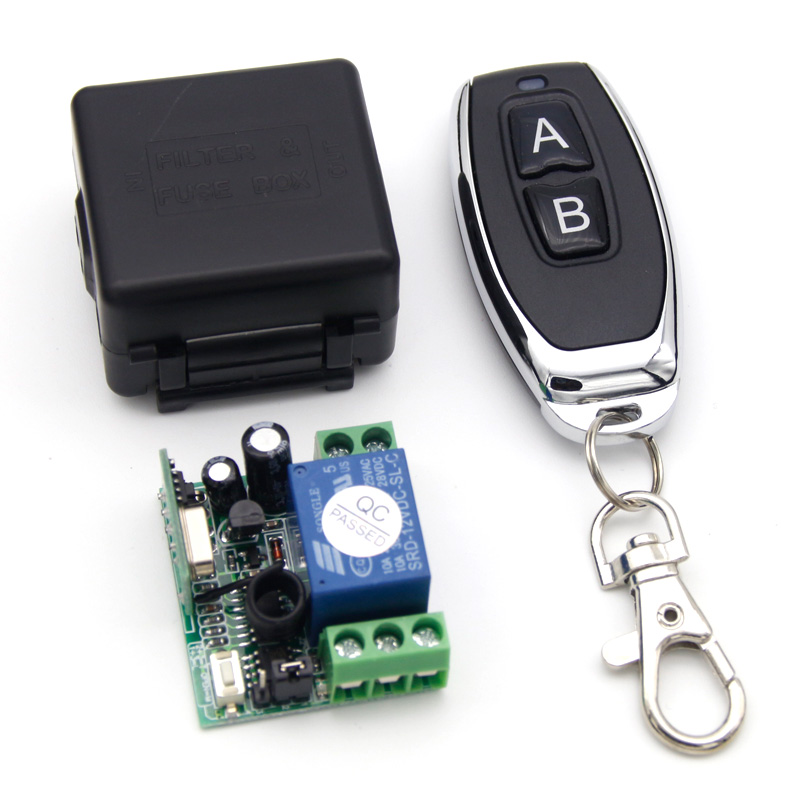 433Mhz Universal Wireless Remote Control Switch DC 12V 1CH relay Receiver Module and RF Transmitter 433 Mhz Remote Controls 1527 dc 12v 1ch 433 mhz universal wireless remote control switch rf relay receiver module and transmitter electronic lock control diy