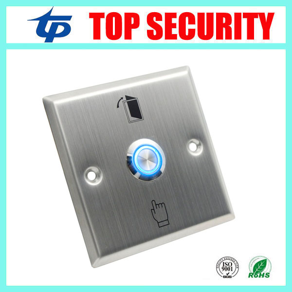 Metal exit button with led light good quality stainless steel press exit switch for access control system night version exit exit wound