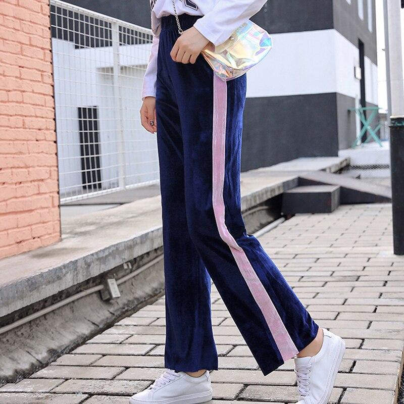 S-5XL Fashion High Waist Sweatpants Women Plus Size Loose Wide Leg Pants Casual Elastic Waist Panelled Trousers Pantalon Mujer