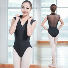 5c511cef18 Ballet Leotards For Women Gymnastics Leotard Ballerina Sexy Black Red  Backless Sleeveless Standing collar Ballet