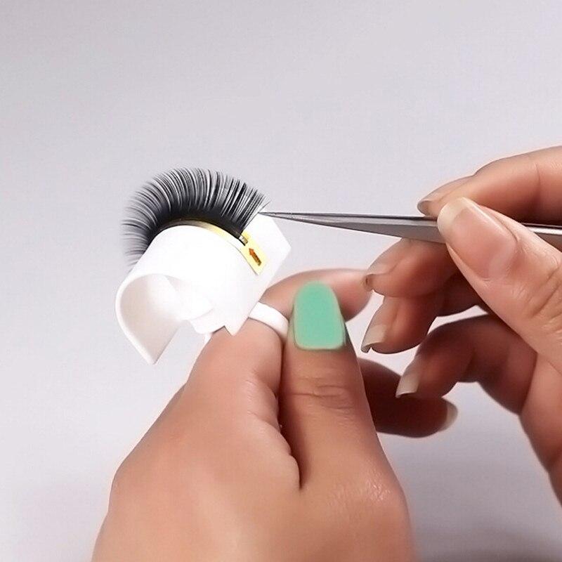 New Eyelash Glue Ring Adhesive Fake Eyelash Extension Pallet Holder Set Makeup Kit Tool Mink Eyelashes Eye Lash Makeup Tools